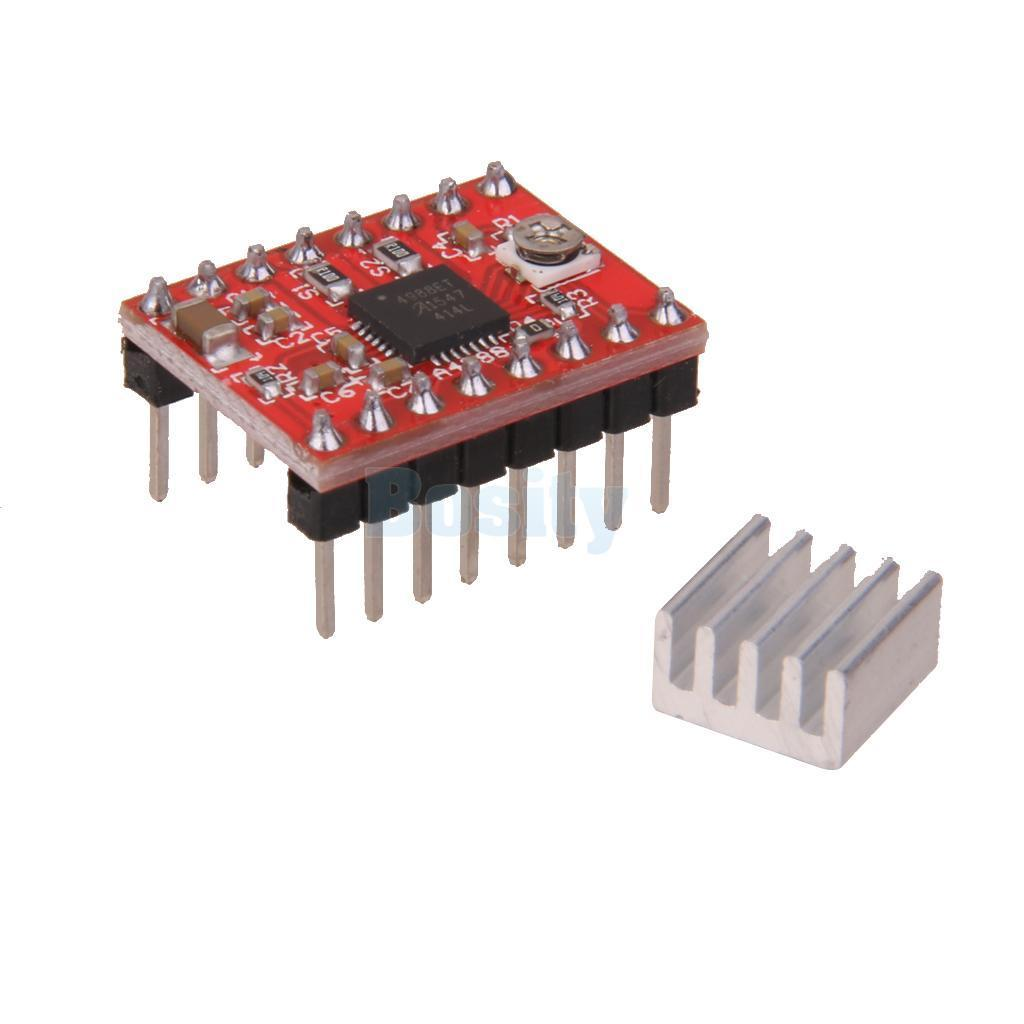 3D 프린터용 스태퍼 모터 드라이버 모듈 / A4988 Stepper Motor Driver Module for 3D Printe With Heat Sink